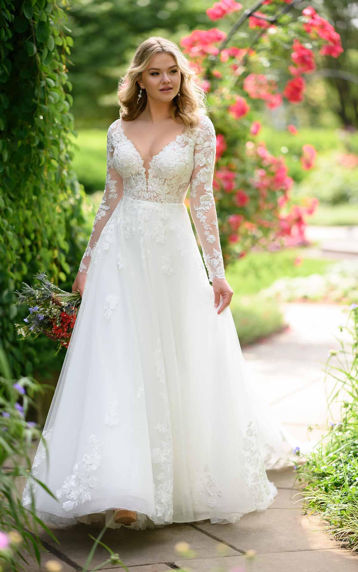 Brautkleid Spitze mit Ärmeln