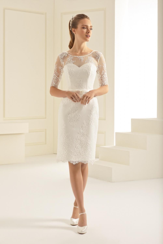 Brautkleid Kurz Ivory
