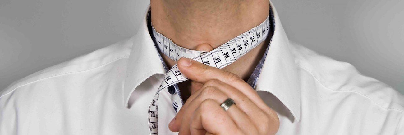 Herren Hemd messen Halsweite
