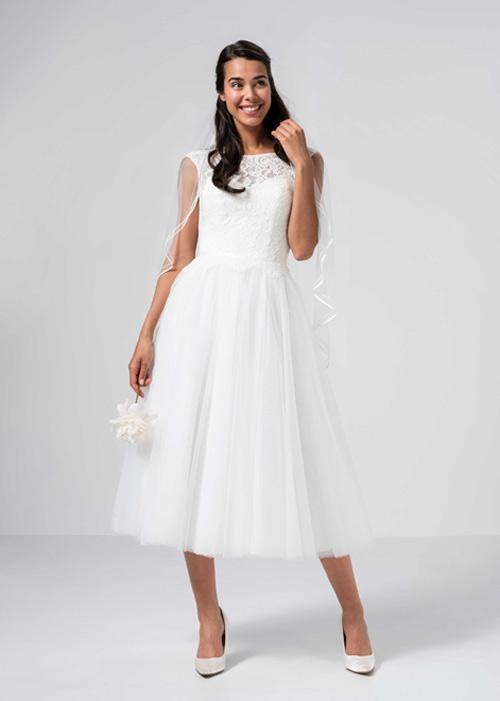 Brautkleid standesamt kleid schlicht